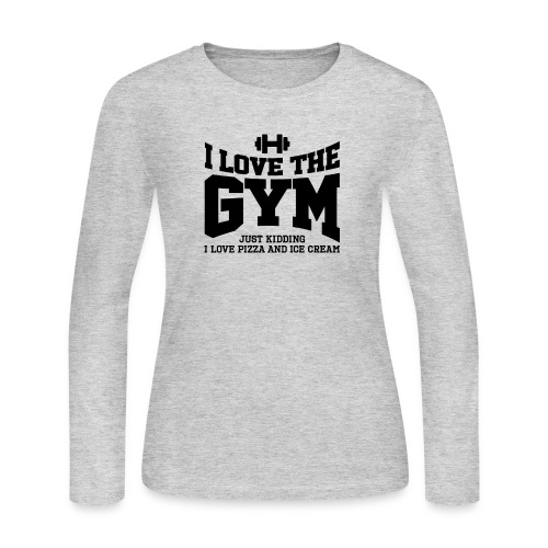 I love the gym - Women's Long Sleeve Jersey T-Shirt