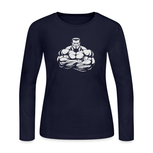 An Angry Bodybuilding Coach - Women's Long Sleeve Jersey T-Shirt