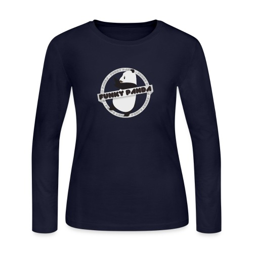 Funky Panda Logo - Women's Long Sleeve Jersey T-Shirt
