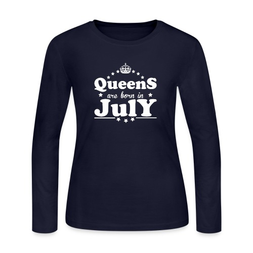 Queens are born in July - Women's Long Sleeve Jersey T-Shirt