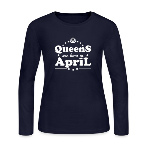 Queens are born in April - Women's Long Sleeve Jersey T-Shirt