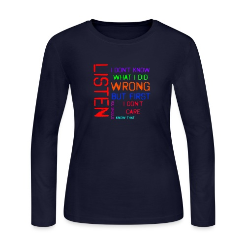 I don't care - Women's Long Sleeve Jersey T-Shirt