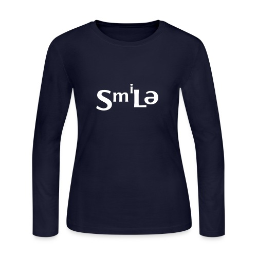 Smile Abstract Design - Women's Long Sleeve Jersey T-Shirt