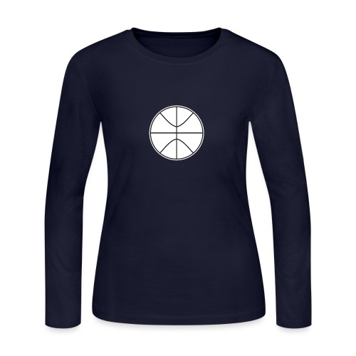 Basketball black and white - Women's Long Sleeve Jersey T-Shirt