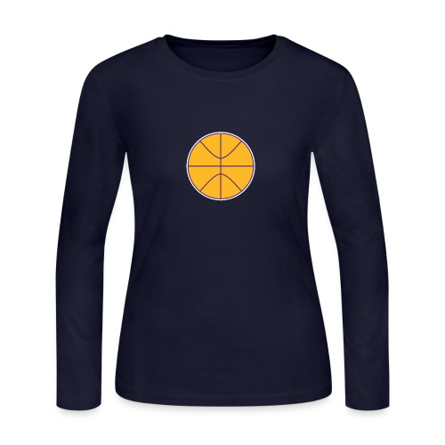 Basketball purple and gold - Women's Long Sleeve Jersey T-Shirt