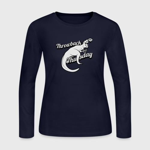 Throwback Thursday T-Rex - Women's Long Sleeve Jersey T-Shirt
