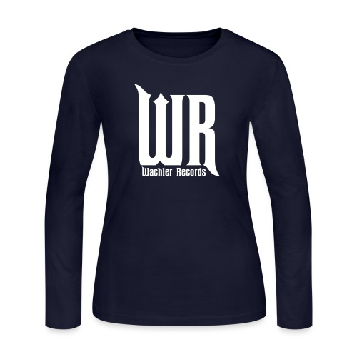 Wachler Records Light Logo - Women's Long Sleeve Jersey T-Shirt