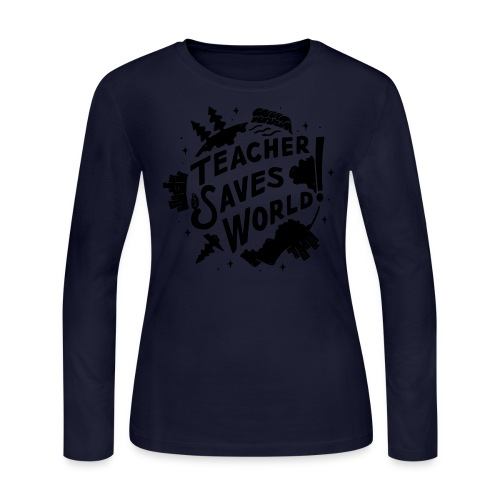 TSW! Retro World Design - Women's Long Sleeve Jersey T-Shirt