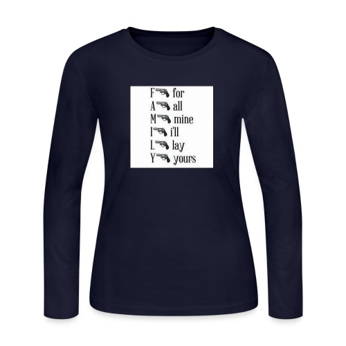 Family is important - Women's Long Sleeve Jersey T-Shirt