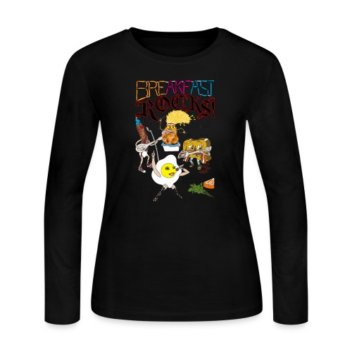 Breakfast Rocks! - Women's Long Sleeve Jersey T-Shirt