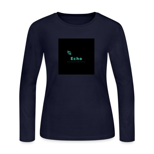 Echo Clan Offical Logo Merch - Women's Long Sleeve Jersey T-Shirt