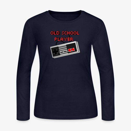 Old School Player - Women's Long Sleeve Jersey T-Shirt