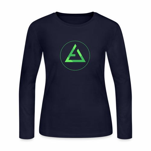 crypto logo branding - Women's Long Sleeve Jersey T-Shirt