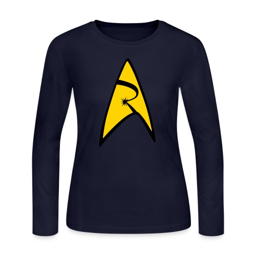 Emblem - Women's Long Sleeve Jersey T-Shirt