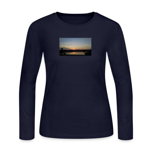 Sunset on the Water - Women's Long Sleeve Jersey T-Shirt