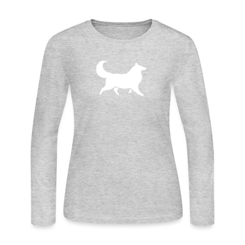 Collie silhouette small - Women's Long Sleeve T-Shirt