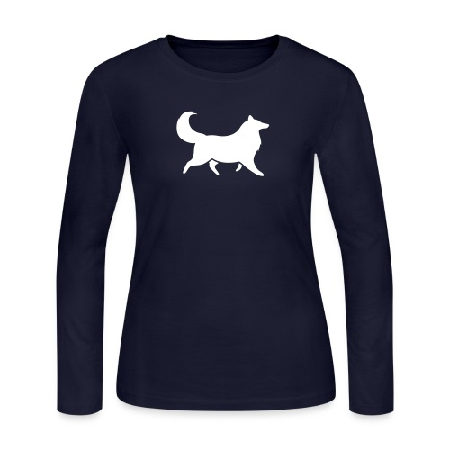 Collie silhouette small - Women's Long Sleeve Jersey T-Shirt