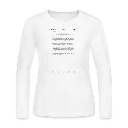 Text from a Football Commit - Women's Long Sleeve Jersey T-Shirt