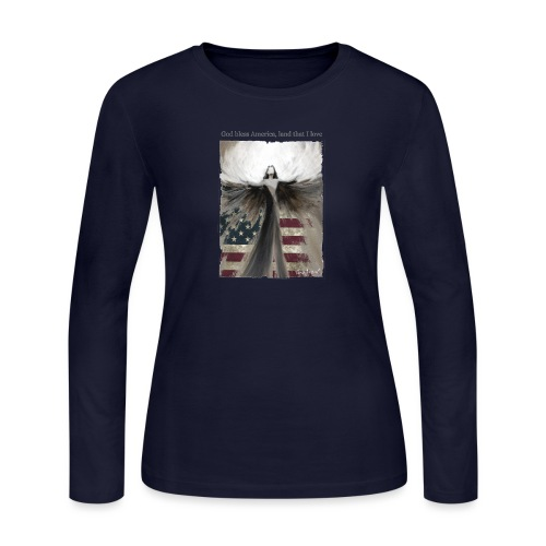 God bless America_design5 - Women's Long Sleeve Jersey T-Shirt