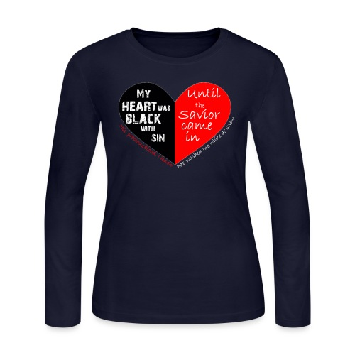 My heart was black with sin - Women's Long Sleeve Jersey T-Shirt