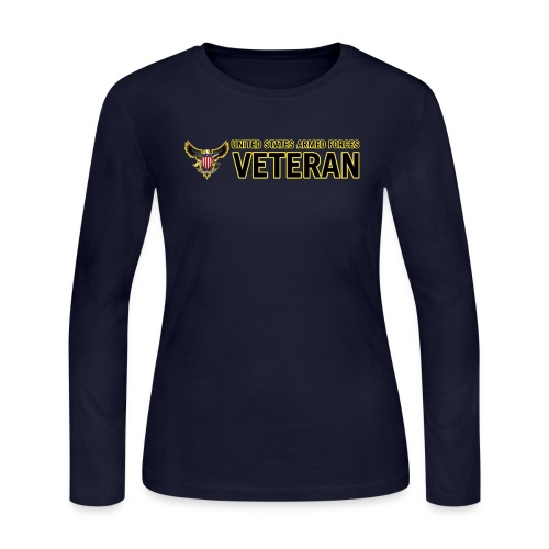 United States Armed Forces Veteran - Women's Long Sleeve Jersey T-Shirt