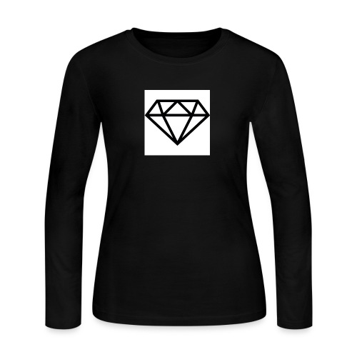 diamond outline 318 36534 - Women's Long Sleeve Jersey T-Shirt