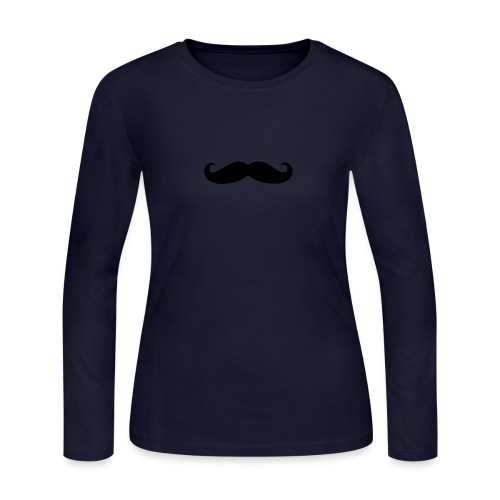 mustache - Women's Long Sleeve Jersey T-Shirt