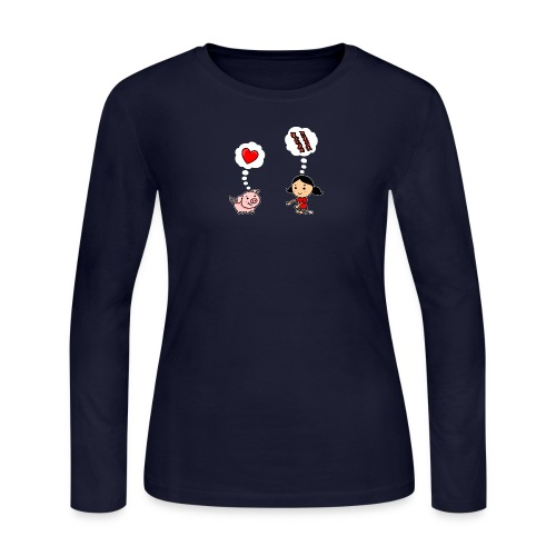 For the Love of Bacon - Women's Long Sleeve Jersey T-Shirt