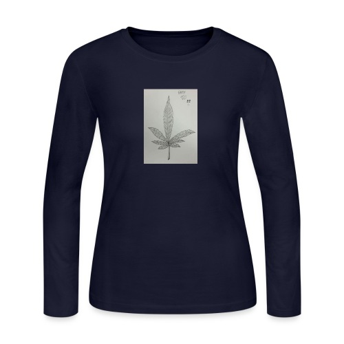 Happy 420 - Women's Long Sleeve Jersey T-Shirt