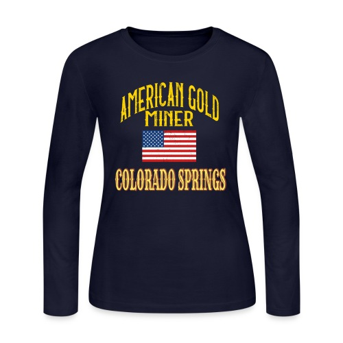 AMERICA GOLD MINER - Women's Long Sleeve Jersey T-Shirt