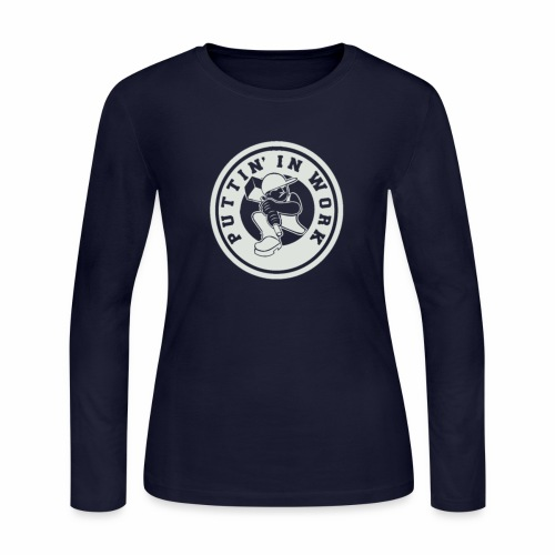 P.I.W White Logo - Women's Long Sleeve Jersey T-Shirt