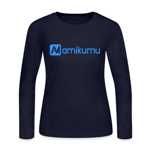 Amikumu Logo Blue - Women's Long Sleeve Jersey T-Shirt