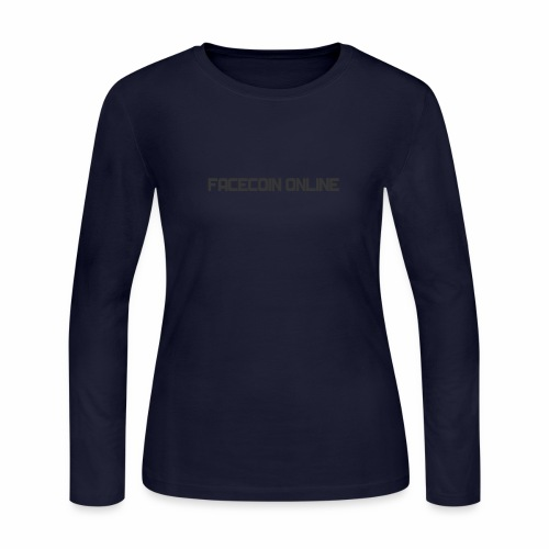 facecoin online dark - Women's Long Sleeve Jersey T-Shirt