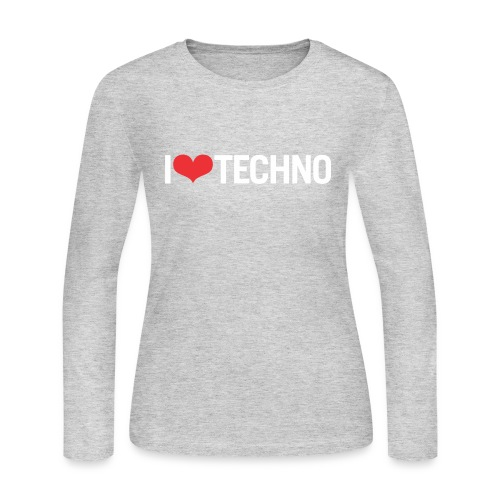 I Love Techno - Women's Long Sleeve Jersey T-Shirt