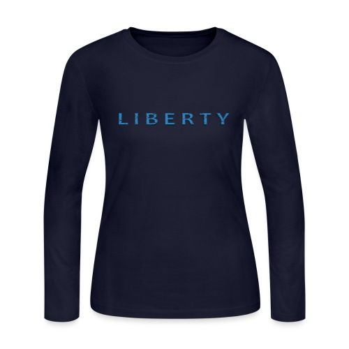 Liberty Libertarian Design - Women's Long Sleeve Jersey T-Shirt