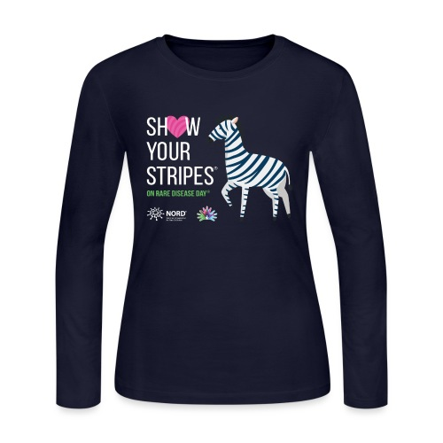 Show Your Stripes for Rare Disease Day! - Women's Long Sleeve Jersey T-Shirt
