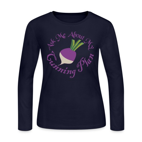 Ask Me About My Cunning Plan - Women's Long Sleeve Jersey T-Shirt
