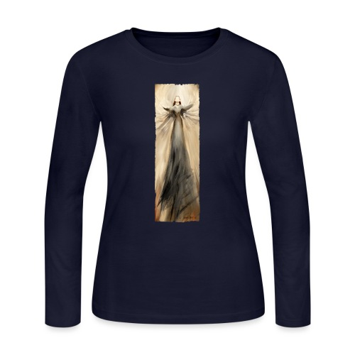 Long angel print_06_Ragge - Women's Long Sleeve Jersey T-Shirt