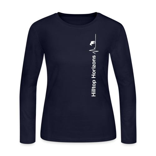 Hilltop Horizons Vertical Logo - Women's Long Sleeve Jersey T-Shirt