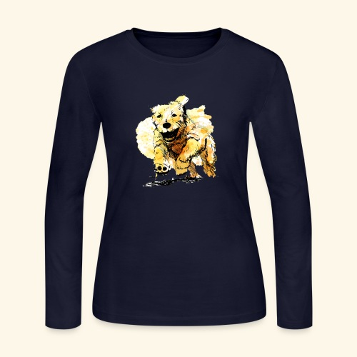 oil dog - Women's Long Sleeve Jersey T-Shirt