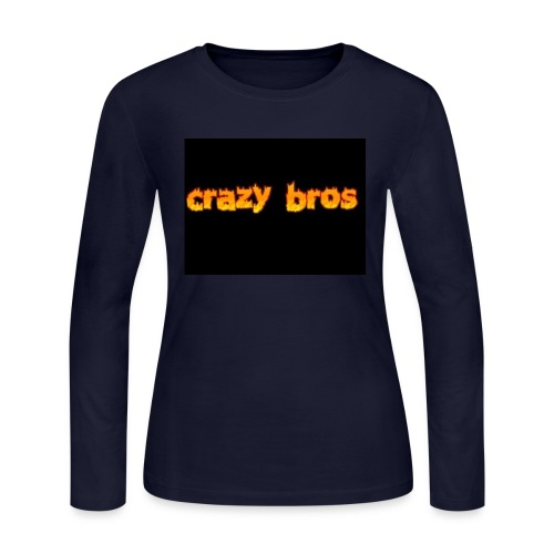 Crazy Bros logo - Women's Long Sleeve Jersey T-Shirt