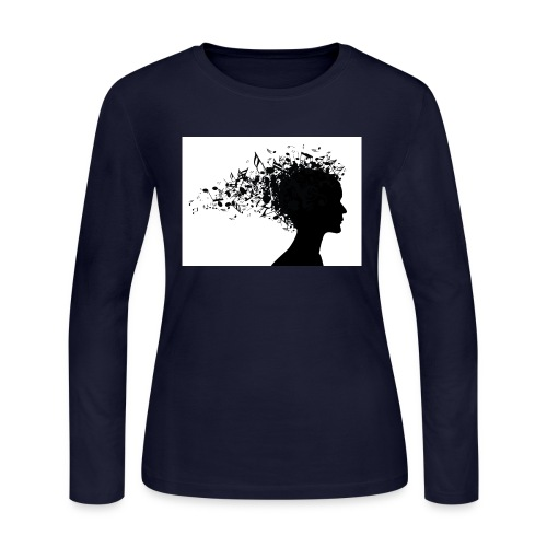 music through my head - Women's Long Sleeve Jersey T-Shirt