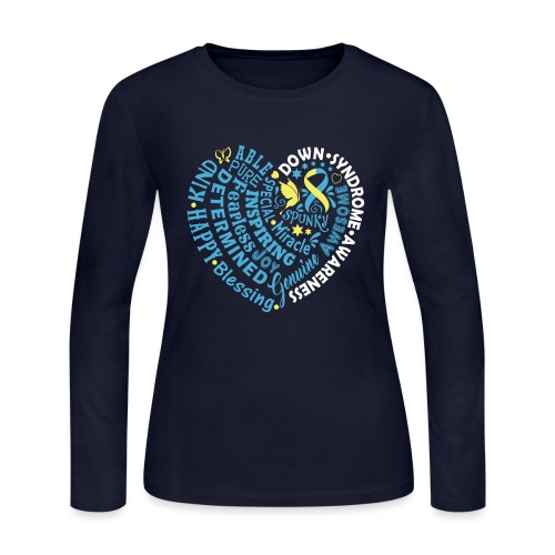 Heart Wordle - Women's Long Sleeve Jersey T-Shirt