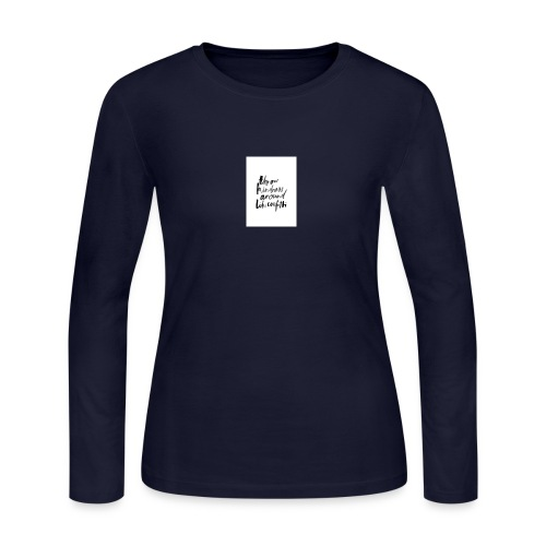 Throw kindness around - Women's Long Sleeve Jersey T-Shirt