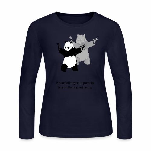Schrödinger's panda is really upset now - Women's Long Sleeve Jersey T-Shirt