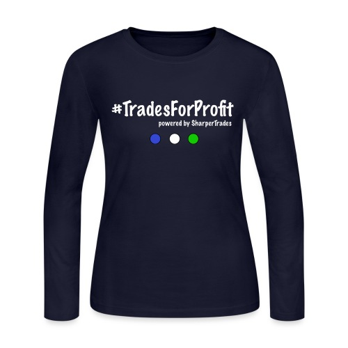 #TradesForProfit (w) - Women's Long Sleeve Jersey T-Shirt