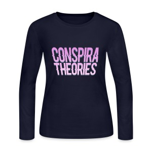 Women's - ConspiraTheories Official T-Shirt - Women's Long Sleeve Jersey T-Shirt