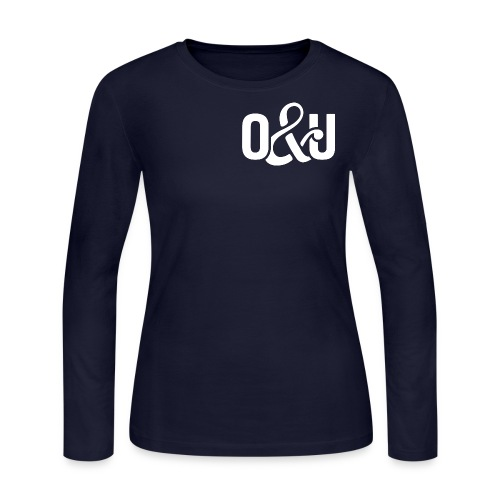 Outcasts and Underdogs logo - Women's Long Sleeve Jersey T-Shirt