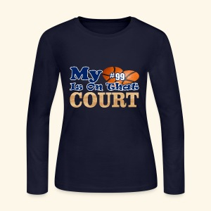 HEART IS ON COURT99 - Women's Long Sleeve Jersey T-Shirt