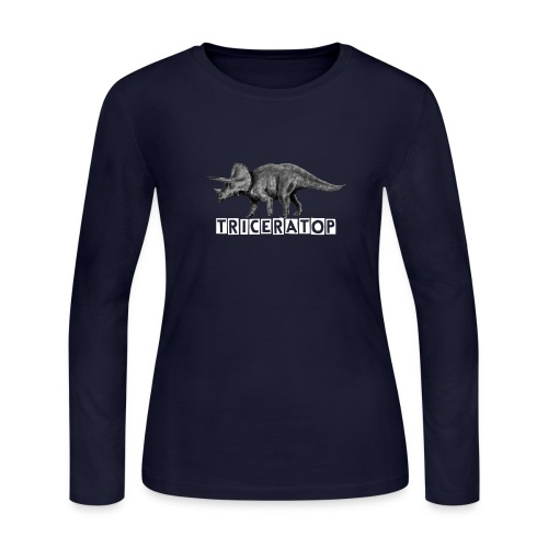 Triceratop1 - Women's Long Sleeve Jersey T-Shirt
